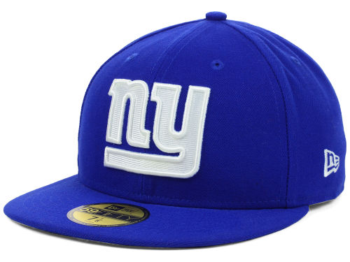 New York Giants New Era NFL Official On Field 59FIFTY Cap Hats