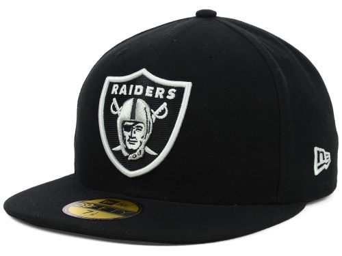 Oakland Raiders New Era NFL Official On Field 59FIFTY Cap Hats