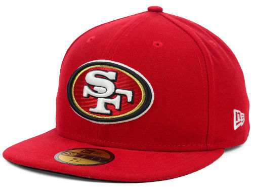 San Francisco 49ers New Era NFL Official On Field 59FIFTY Cap Hats
