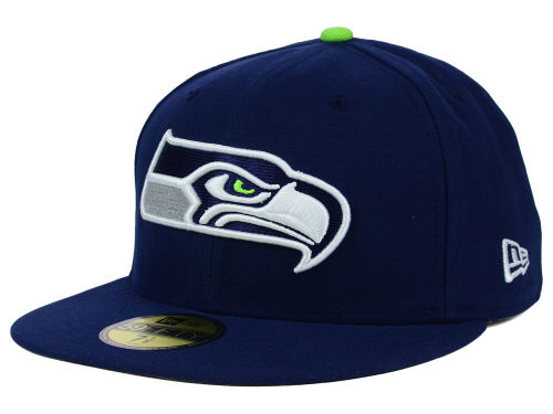 Seattle Seahawks New Era NFL Official On Field 59FIFTY Cap Hats