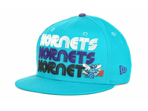 Charlotte Hornets New Era NBA Hardwood Tri-Logo 9FIFTY Snapback Hats
