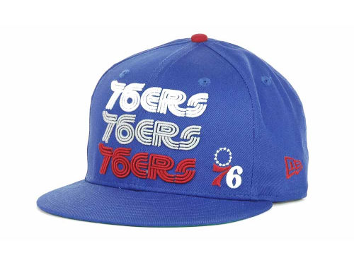 Philadelphia 76ers New Era NBA Hardwood Tri-Logo 9FIFTY Snapback Hats