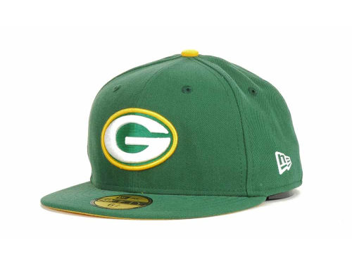 Green Bay Packers New Era NFL Official On Field 59FIFTY Cap Hats
