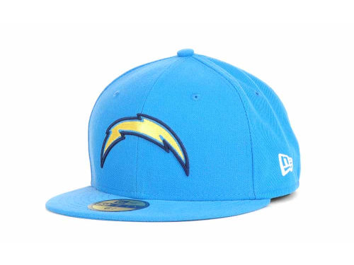 San Diego Chargers New Era NFL Official On Field 59FIFTY Cap Hats