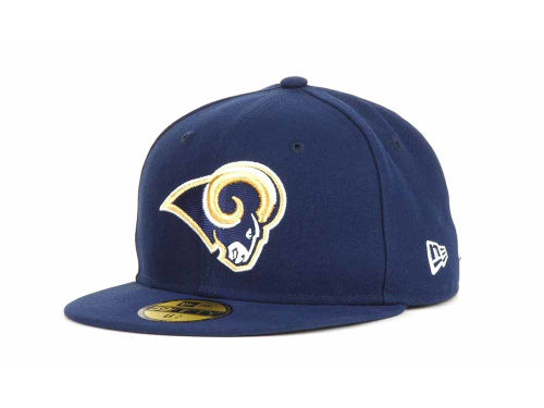 Los Angeles Rams New Era NFL Official On Field 59FIFTY Cap Hats