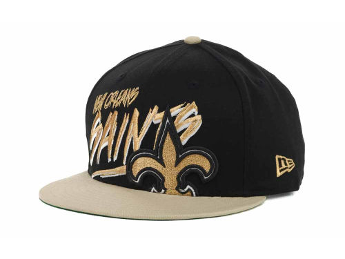 New Orleans Saints New Era NFL Word Scribbs 9FIFTY Snapback Hats