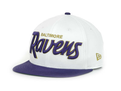 Baltimore Ravens NFL White Top 9FIFTY Snapback Hats