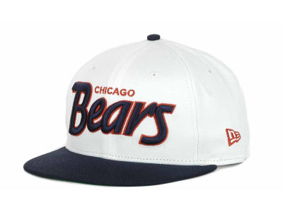 Chicago Bears NFL White Top 9FIFTY Snapback Hats