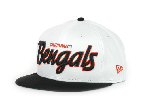 Cincinnati Bengals New Era NFL White Top 9FIFTY Snapback Hats