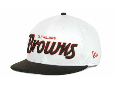 Cleveland Browns NFL White Top 9FIFTY Snapback Hats