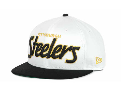 Pittsburgh Steelers NFL White Top 9FIFTY Snapback Hats