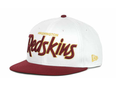 Washington Redskins NFL White Top 9FIFTY Snapback Hats