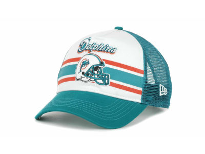 Miami Dolphins NFL Spiral Stripe 9FORTY Hats
