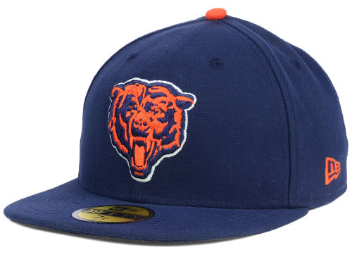 Chicago Bears New Era NFL Official On Field 59FIFTY Cap Hats