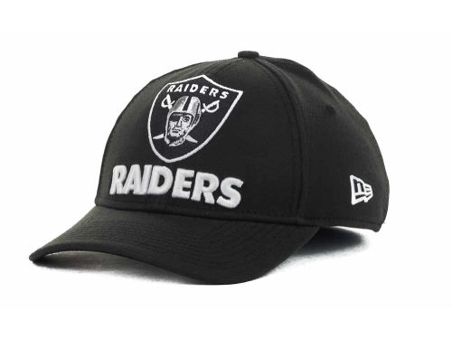 Oakland Raiders New Era NFL Eight in the Box 39THIRTY Hats