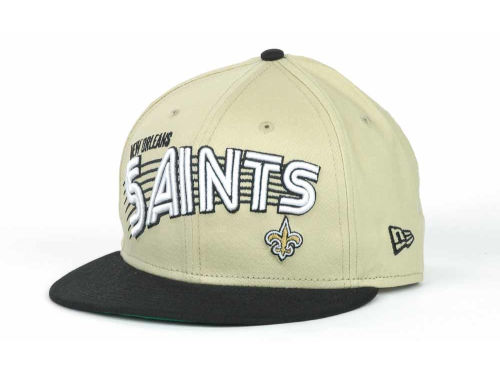 New Orleans Saints New Era NFL Swoop 9FIFTY Snapback Hats