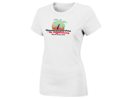 Honda Grand Prix of St. Petersburg Racing Event Overzise Logo Womens T-Shirt