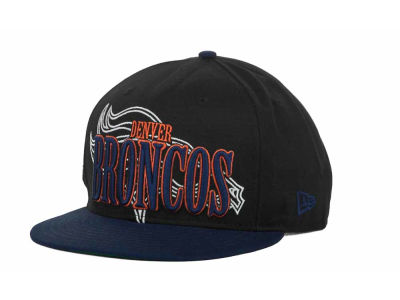 Denver Broncos NFL Logo Through 9FIFTY Snapback Hats