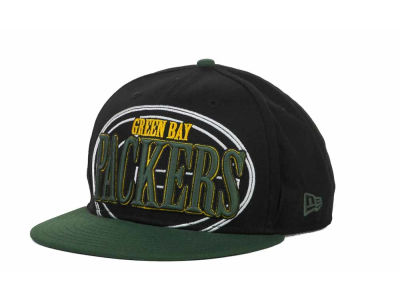 Green Bay Packers NFL Logo Through 9FIFTY Snapback Hats