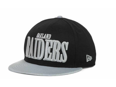 Oakland Raiders NFL Logo Through 9FIFTY Snapback Hats