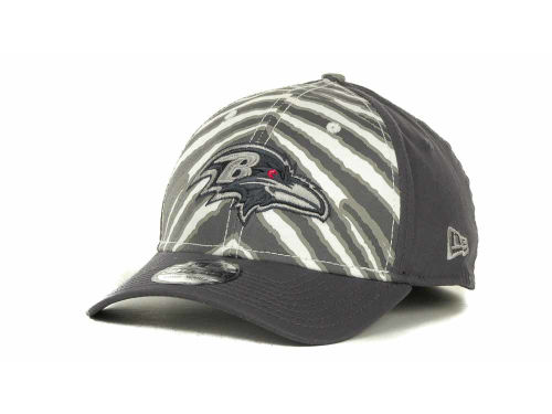 Baltimore Ravens New Era NFL Zebra 39THIRTY Cap Hats
