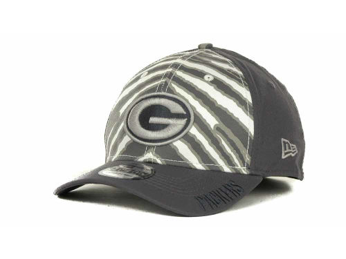 Green Bay Packers New Era NFL Zebra 39THIRTY Cap Hats
