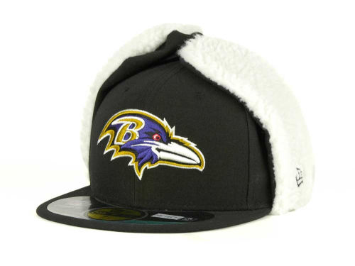 Baltimore Ravens New Era NFL On Field Dog Ear 59FIFTY Cap Hats