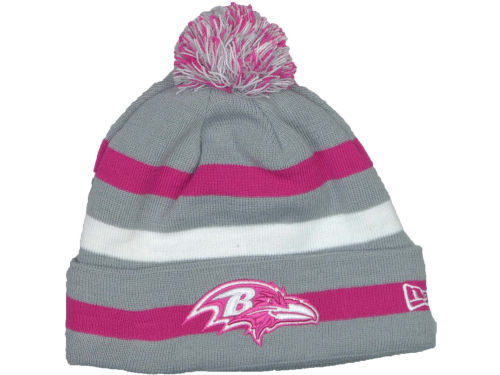 Baltimore Ravens New Era NFL Breast Cancer Awareness Knit Cap Hats