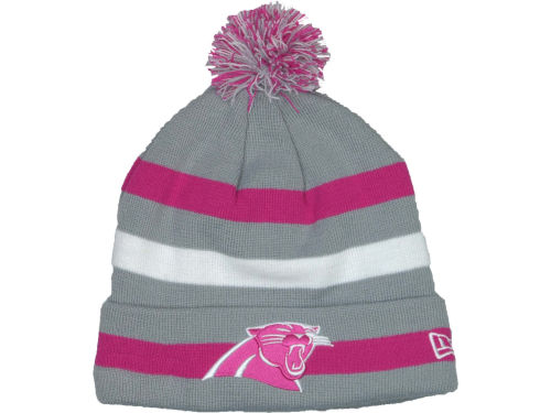 Carolina Panthers New Era NFL Breast Cancer Awareness Knit Cap Hats