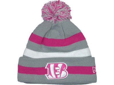 Cincinnati Bengals NFL Breast Cancer Awareness Knit Cap Hats
