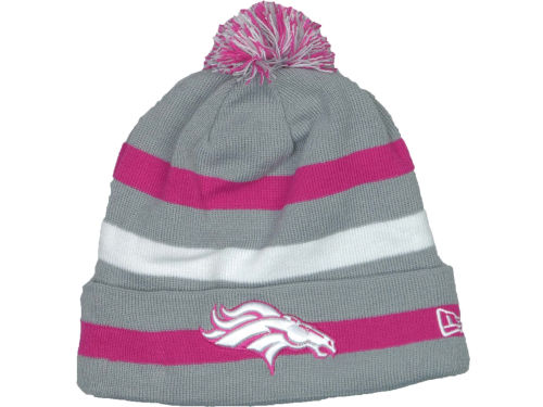 Denver Broncos New Era NFL Breast Cancer Awareness Knit Cap Hats