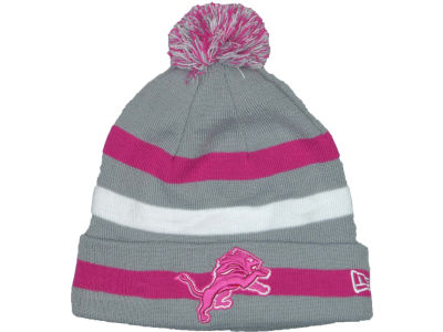 Detroit Lions NFL Breast Cancer Awareness Knit Cap Hats
