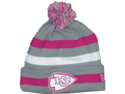 Kansas City Chiefs NFL Breast Cancer Awareness Knit Cap Hats