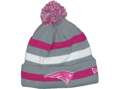 New England Patriots NFL Breast Cancer Awareness Knit Cap Hats