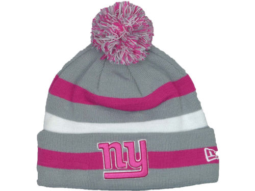 New York Giants New Era NFL Breast Cancer Awareness Knit Cap Hats