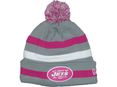 New York Jets NFL Breast Cancer Awareness Knit Cap Hats