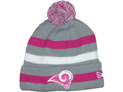 St. Louis Rams NFL Breast Cancer Awareness Knit Cap Hats