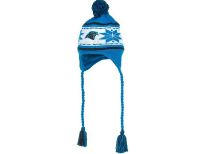 Carolina Panthers NFL Striped Snowflake Knit Hats