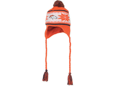 Denver Broncos NFL Striped Snowflake Knit Hats
