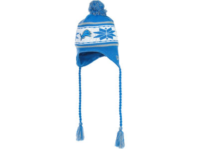 Detroit Lions NFL Striped Snowflake Knit Hats