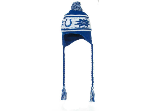 Indianapolis Colts New Era NFL Striped Snowflake Knit Hats