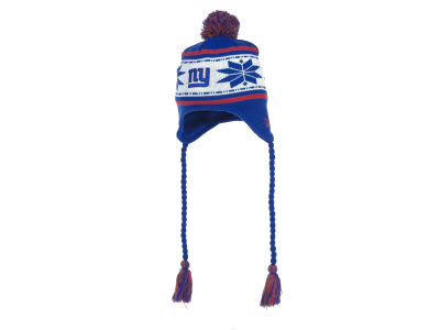 New York Giants NFL Striped Snowflake Knit Hats