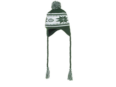New York Jets NFL Striped Snowflake Knit Hats