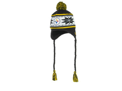Pittsburgh Steelers NFL Striped Snowflake Knit Hats