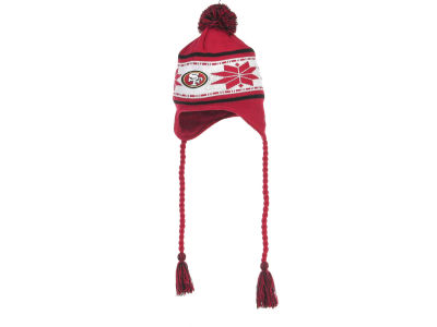 San Francisco 49ers NFL Striped Snowflake Knit Hats