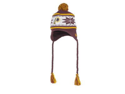 Washington Redskins NFL Striped Snowflake Knit Hats