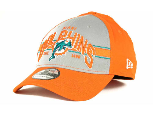 Miami Dolphins New Era NFL Tri Band 39THIRTY Hats