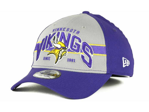 Minnesota Vikings New Era NFL Tri Band 39THIRTY Hats
