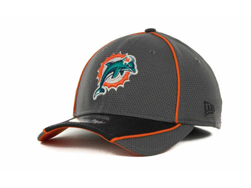 Miami Dolphins New Era NFL Abrasion 39THIRTY Cap Hats