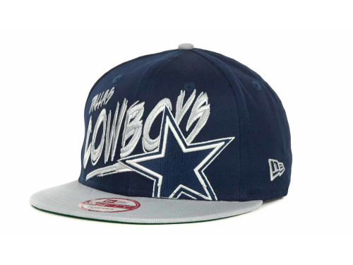 Dallas Cowboys NFL Word Scribbs 9FIFTY Snapback Hats